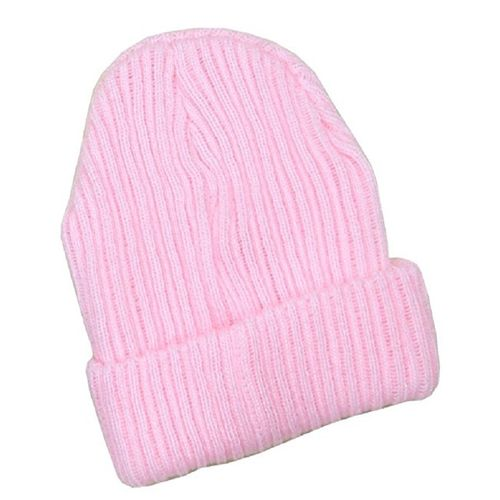 Pesci Baby Ribbed Beanie Wool Hat- Pink  e380b5131ce